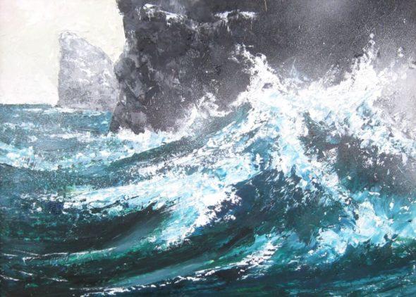 Wave Breaking on Stac Lee